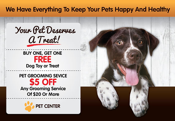 """Pet Shop Postcard """"Your Pet Deserves a Treat"""""""