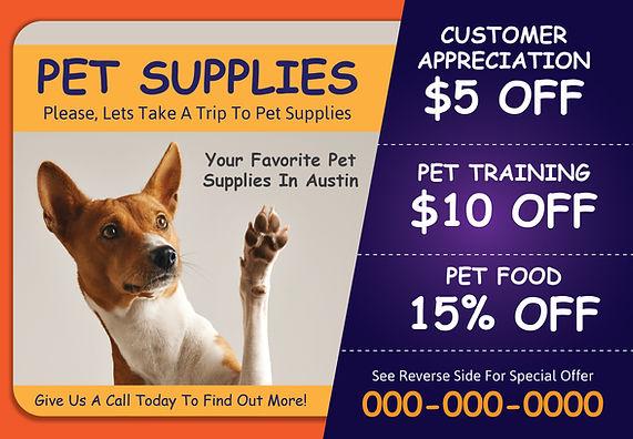 """Pet Shop Postcard """"Customer Appreciation"""""""