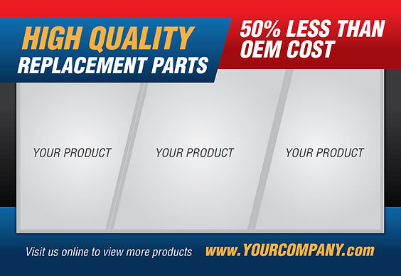 """Manufacturing and Industrial Postcard """"High Quality Replacement Parts"""""""