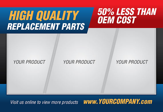 "Manufacturing and Industrial Postcard ""High Quality Replacement Parts"""