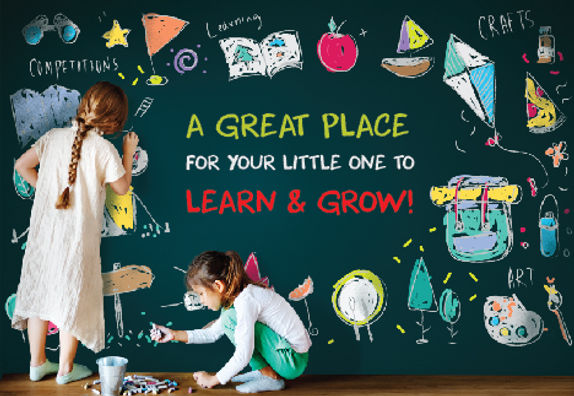 """Private School Postcard """"Great Place To Learn and Grow"""""""