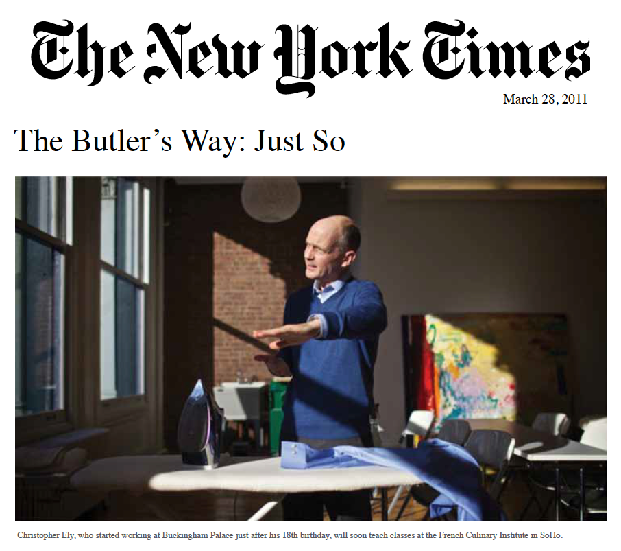 The New York Times - The Butler's Way: Just So