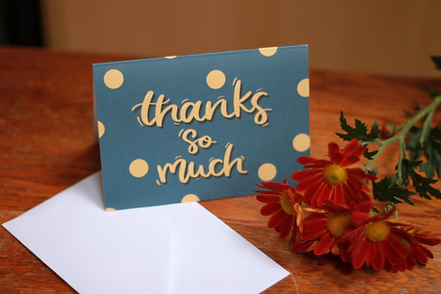 Thanks so much - card single