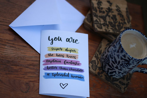 You Are... - card single
