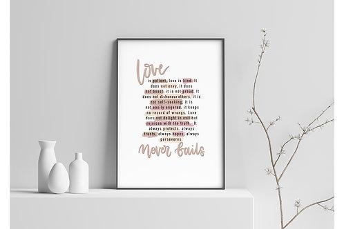 Love is... A5 print