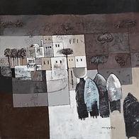 Painting by the artist Abdulrahman Al Maghrabi