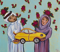 """Painting """"My Prize"""" by the artist Ahlam Alshedoukhy"""