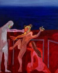 "Painting ""KO"" by artist Ziad Kaki"