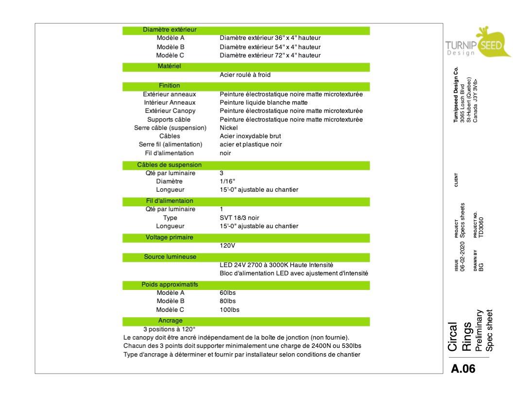 Circal Spec Sheet