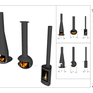 Turnipseed stand alone fireplaces spec sheet