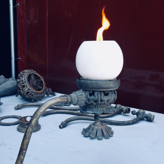 Gas lamp restoration
