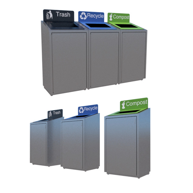 Waste receptacles STIA Terminal