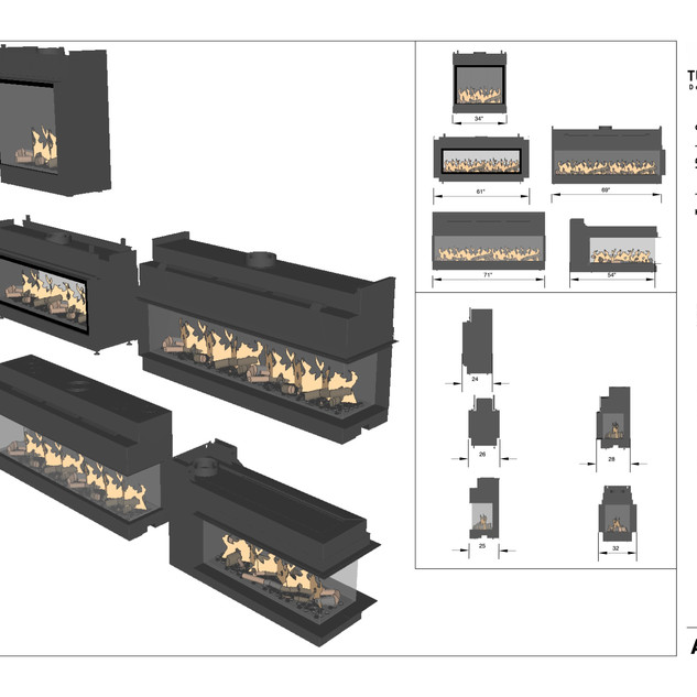 Turnipseed built in fireplaces spec sheets