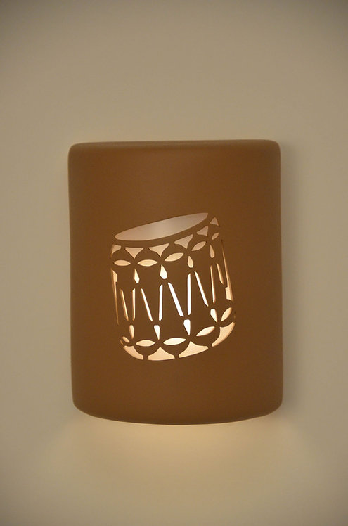 Medium Cylinder Wall Sconce with Drum Design