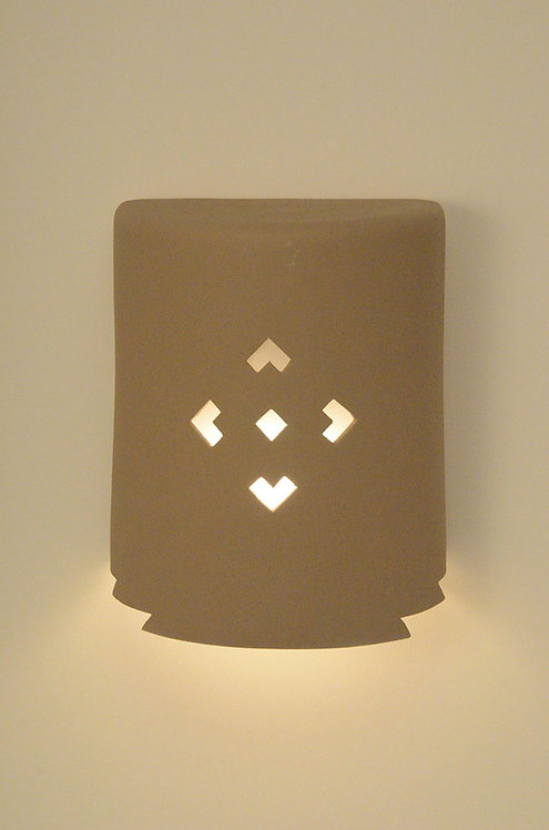 Medium Cylinder Wall Sconce with Small Arrows