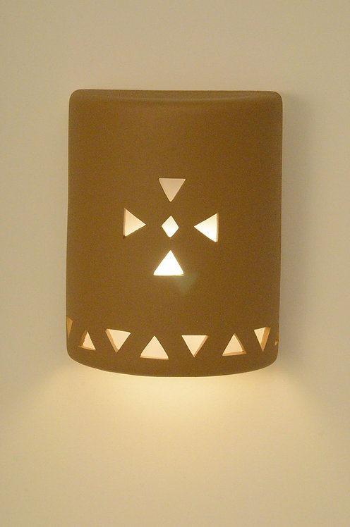 Medium Cylinder Wall Sconce with Triangle Cross
