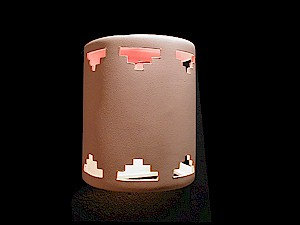 Medium Cylinder Wall Sconce with Tier Step Design