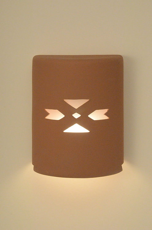 Medium Cylinder Wall Sconce with SW Arrow Design