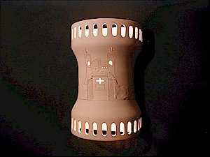 Hourglass Wall Sconce with Santuario de Chimayo