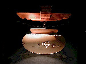 Large Pot Pendant with Casita Design