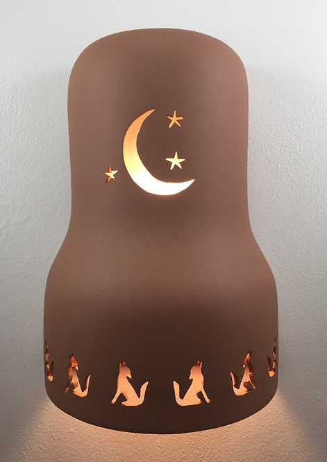 Bell Shaped Wall Sconce with Moon Design