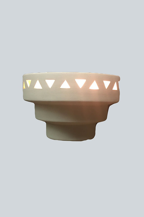 Single Tier Wall Sconce with Triangle Band