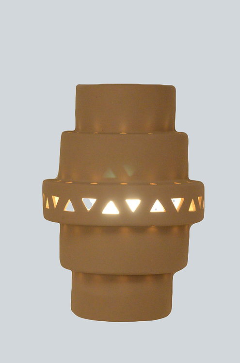 Double Tier Wall Sconce with Triangle band