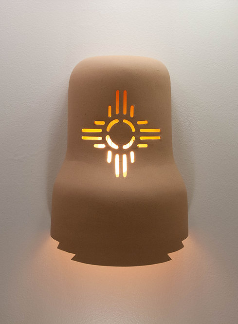 Bell Shaped Wall Sconce with Zia Design