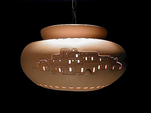 Large Pot Pendant with Pueblo Design