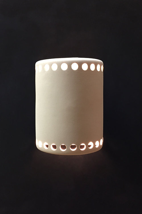 Medium Cylinder Wall Sconce with Hole Necklaces