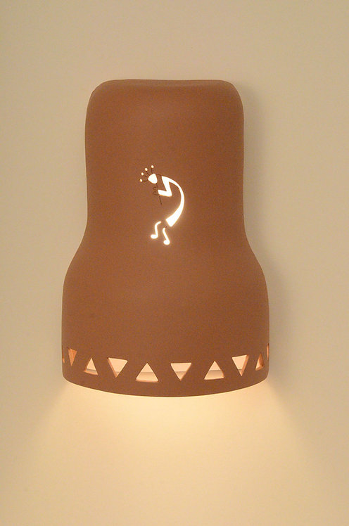 Bell Shaped Wall Sconce with Kokopelli Design