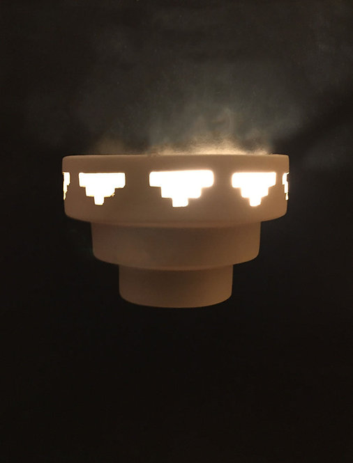 Single Tier Wall Sconce with Tier Step Design