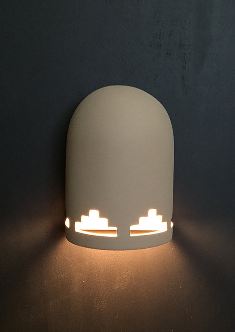 Small  Dome Wall Sconce with Tier Step Design