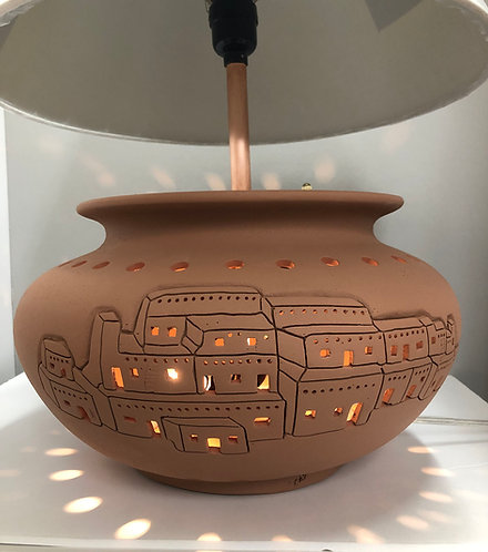 Desk Lamp With Taos Pueblo Design