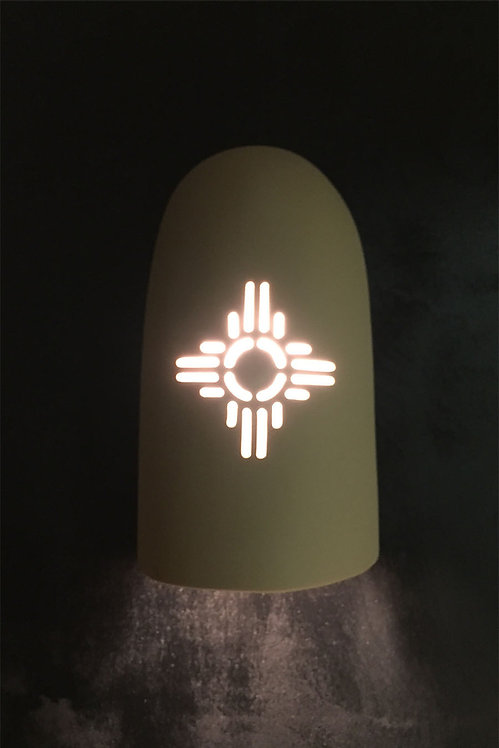 Large Flared Dome Wall Sconce with Zia