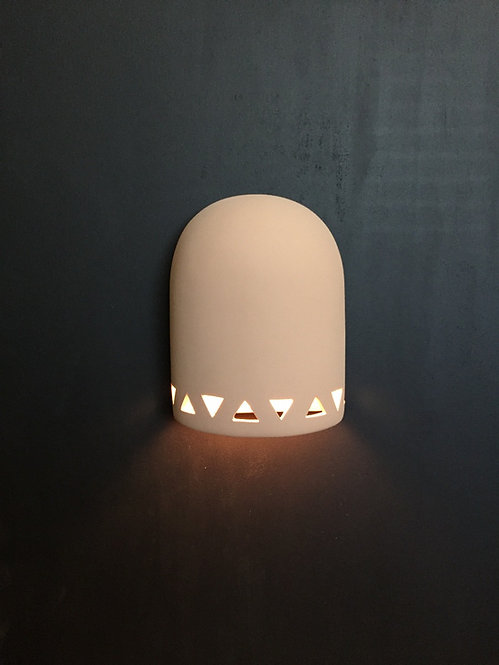 Medium Dome Wall Sconce with Triangle Band