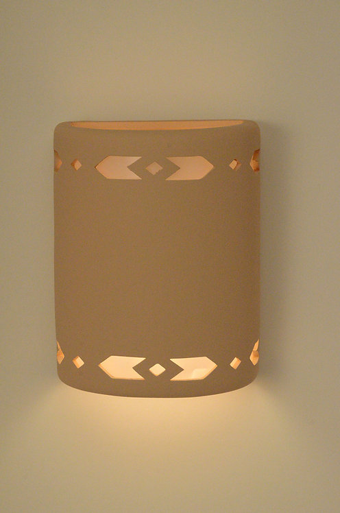 Medium Cylinder Wall Sconce with Arrow Design