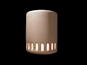 Medium Cylinder Wall Sconce with Oval Slots