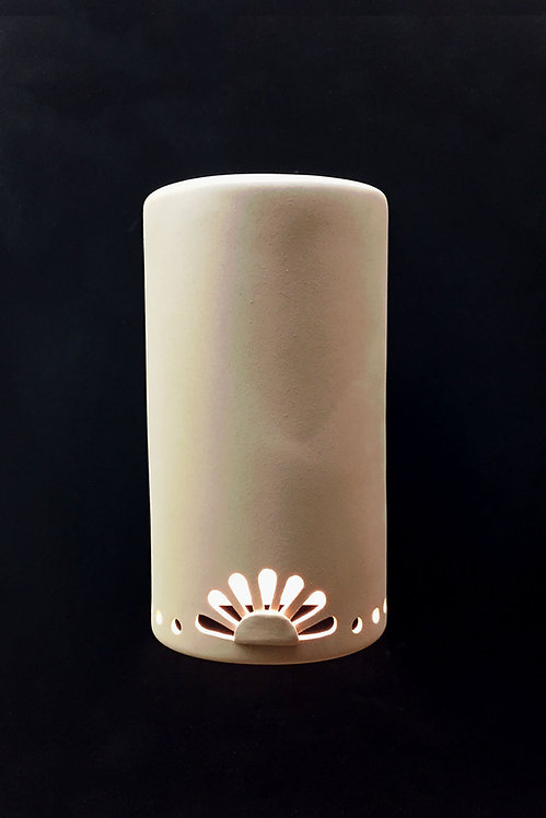 Large Cylinder Sconce with Rosette Design - Bottom