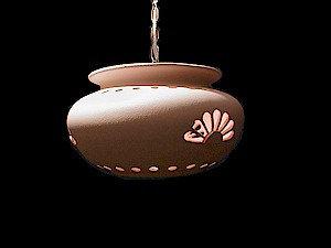 Medium Pot Pendant with Rosette Design