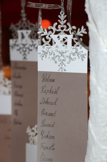 Plan de table mariage hiver - Bulles d'I