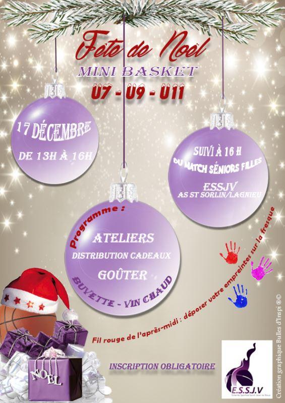 Affiche Fête de Noël mini basket