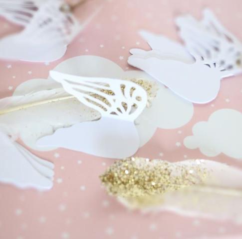Etiquettes ailes d'anges