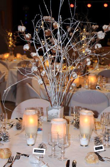 centre de table mariage hiver - Bulles d