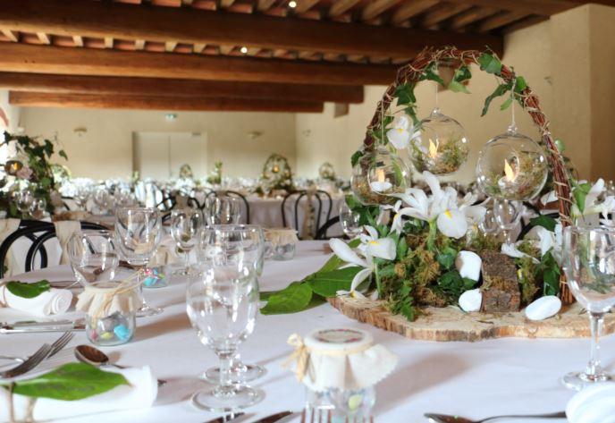 Centre_de_table_-_Mariage_champêtre_-_Bu