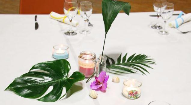 Centre de table tropical