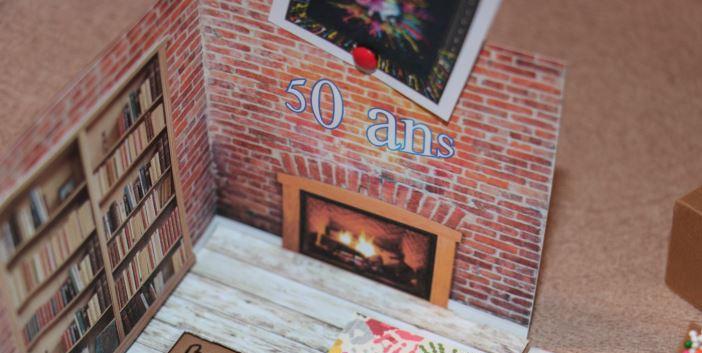 Carte pop up Anniversaire Escape Game