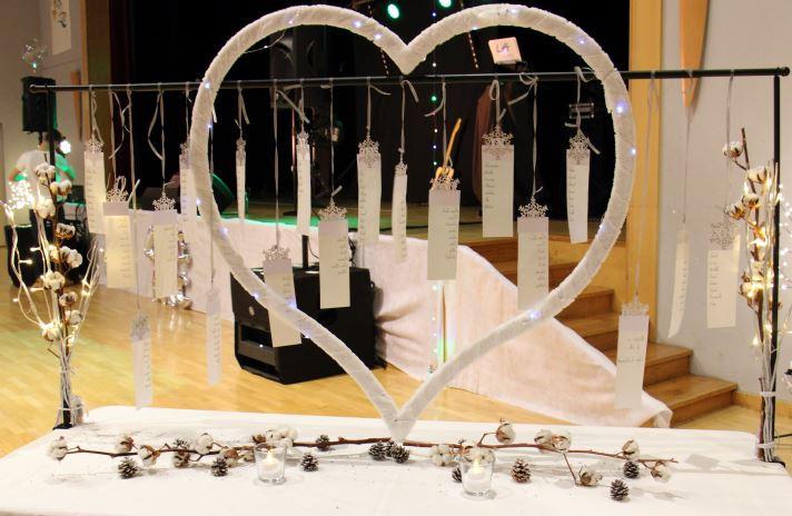 Plan de table mariage hiver 2- Bulles d'