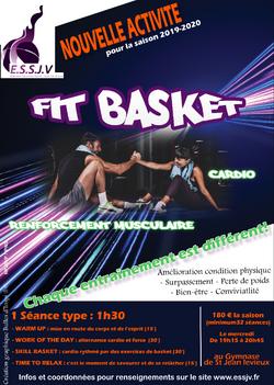 Affiche Fit Basket - Bulles d'Inspi