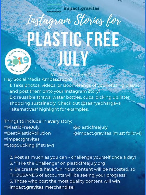 impact.gravitas' Plastic Free July Challenge - National Engagement!